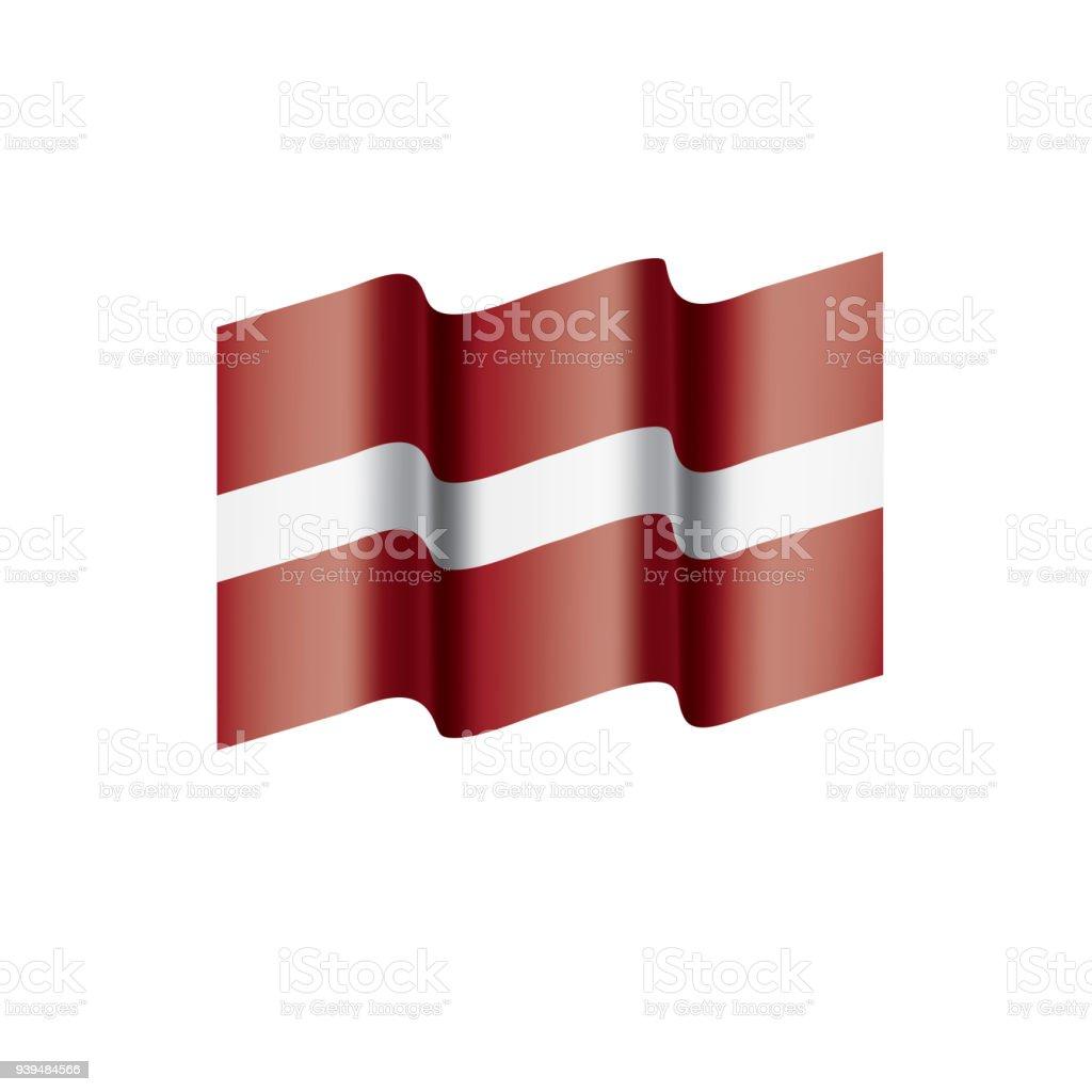 ilustração de bandeira da letónia ilustração vetorial e mais banco