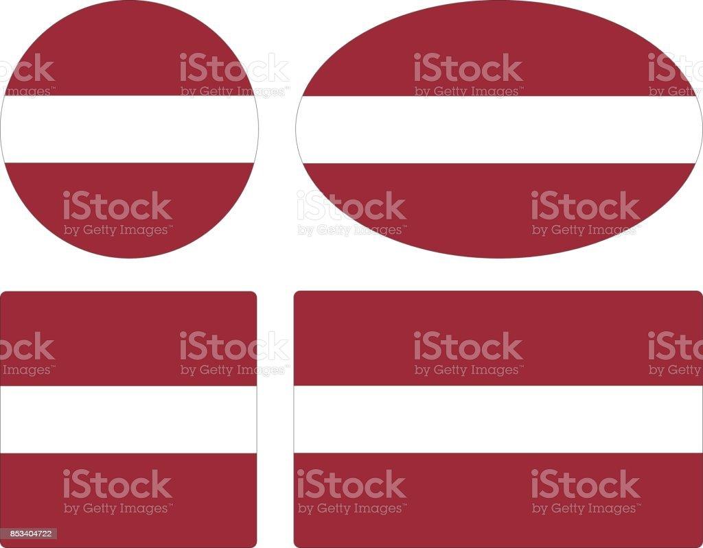 ilustração de letônia bandeiras e mais banco de imagens de bandeira