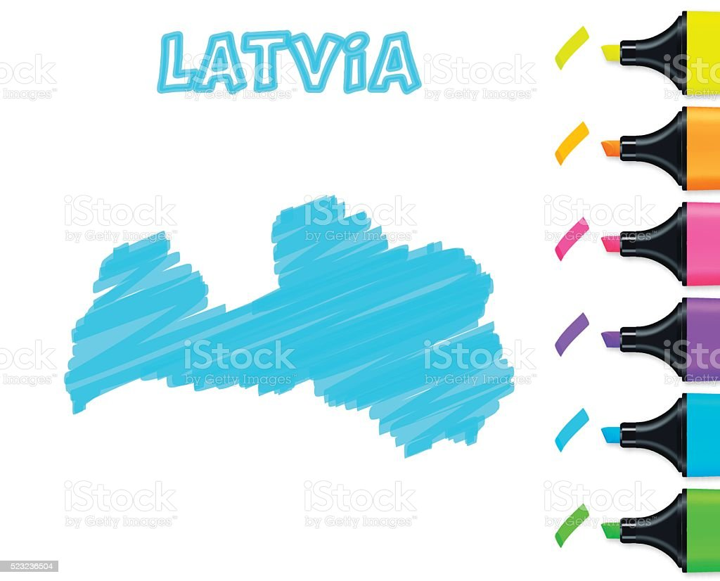 Latvia map hand drawn on white background blue highlighter stock latvia map hand drawn on white background blue highlighter royalty free latvia map hand publicscrutiny Gallery