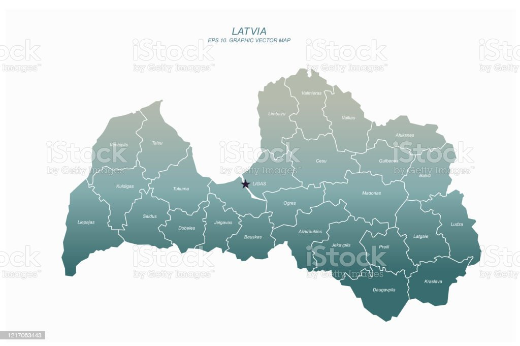 Picture of: Latvia Map Vector Map Of Latvia In Europe Stock Illustration Download Image Now Istock