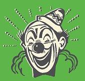Laughing Bald Clown