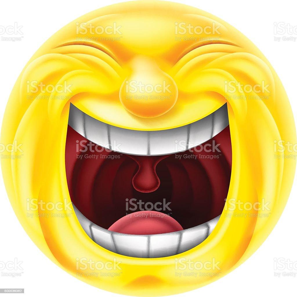 Laughing Emoji Emoticon vector art illustration