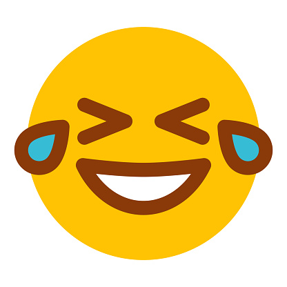 Laughing Emoticon Icon on Transparent Background