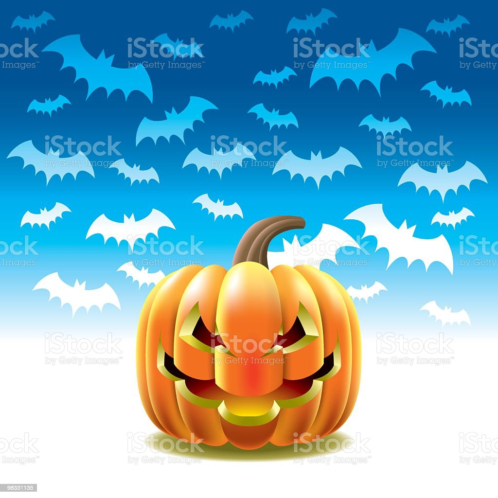 Laughing Pumpkin royalty-free laughing pumpkin stock vector art & more images of art