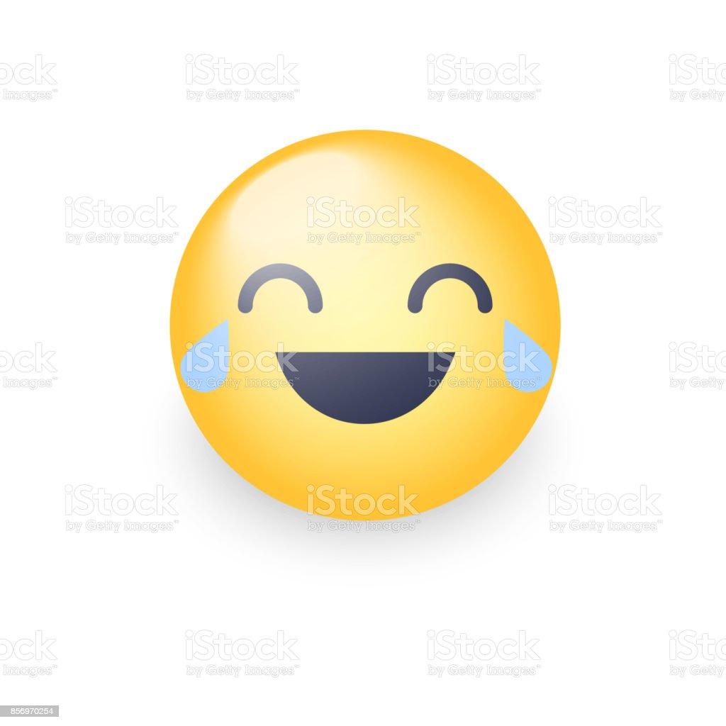 smiley avec des larmes de joie en riant moticne dessin anim heureux emoji visage - Dessin Avec Emoji