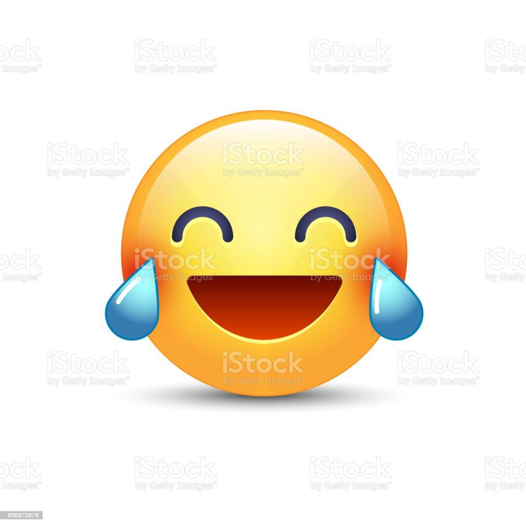 Smiley Avec Des Larmes De Joie En Riant Emoticone Dessin Anime