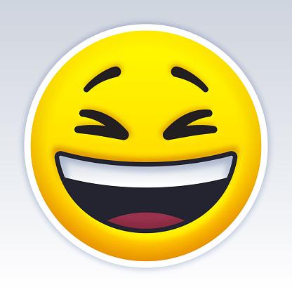 Laughing Smiling Emoji Face