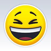 istock Laughing Smiling Emoji Face 1254819555