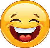 Laughing with closed eyes emoticon