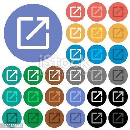 istock Launch application round flat multi colored icons 1022828832