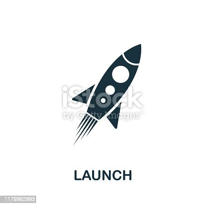 Launch icon vector illustration. Creative sign from seo and development icons collection. Filled flat Launch icon for computer and mobile. Symbol, logo vector graphics.