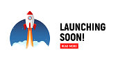 istock Launching soon marketing store template. Coming soon announcement flyer banner. 1227391762