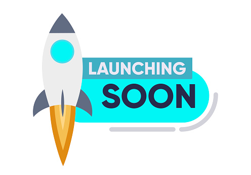 Launching Soon Page Design App Interface for Smart Phones. Vector
