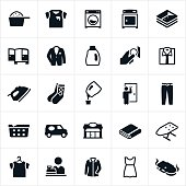 Laundromat and Dry Cleaning Icons