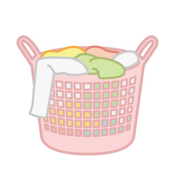Laundry basket Single item illustration of laundry basket laundry basket stock illustrations