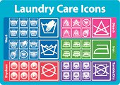 Laundry care icon set