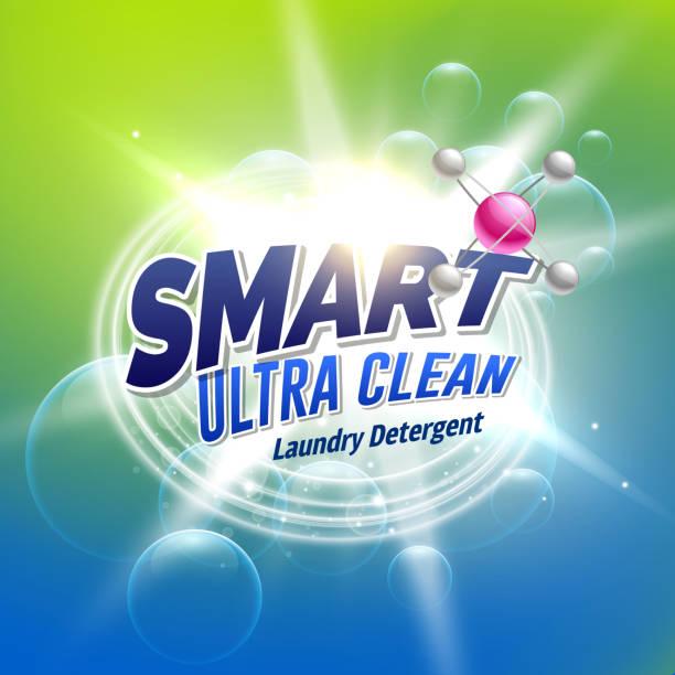 wäsche waschmittel werbung konzeption für produktverpackungen - weichspüler stock-grafiken, -clipart, -cartoons und -symbole