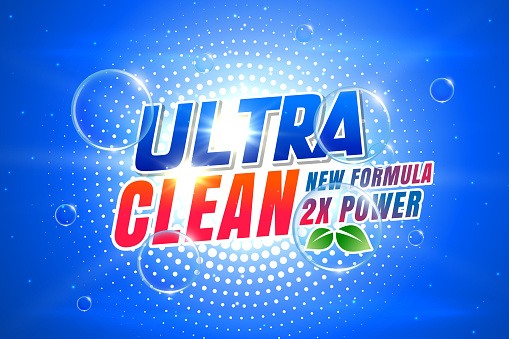 laundry detergent concept banner for packaging and advertising