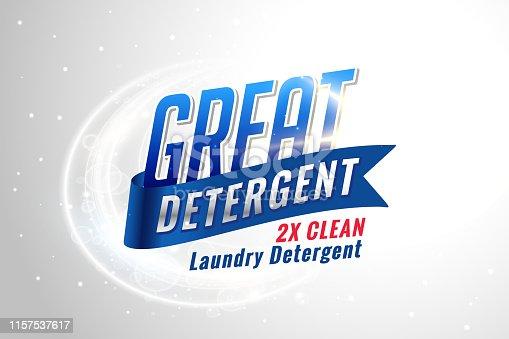 concepto de detergente para ropa para tejidos limpios