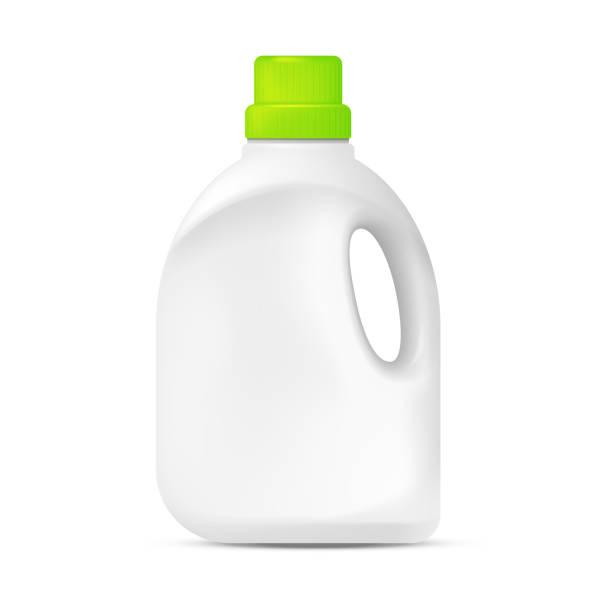 laundry detergent plastic bottle - bleach stock illustrations