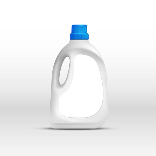 wäsche-reinigungsmittel-kunststoff-flasche - weichspüler stock-grafiken, -clipart, -cartoons und -symbole