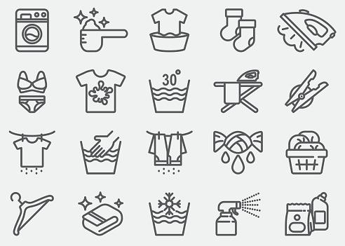 Laundry Line Icons