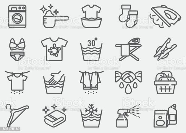 Laundry line icons vector id826175182?b=1&k=6&m=826175182&s=612x612&h=uqsbqlrxlcnhperiocoxryw9xrpsrdtteweqd5o1a4k=
