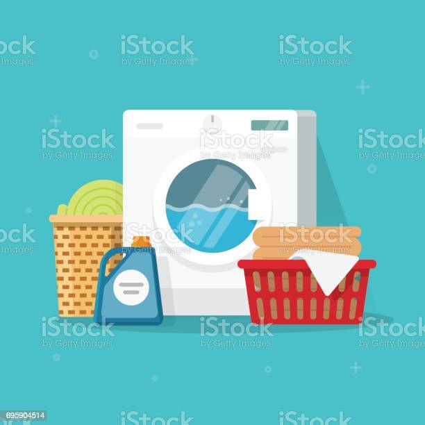 Laundry machine with washing clothing and linen vector illustration vector id695904514?b=1&k=6&m=695904514&s=612x612&h=sjegkn9zzp7jdhajdtl3yp00tcr4mxmhbs5n2jecvvy=