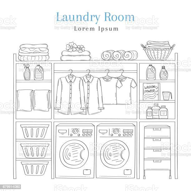 Laundry room interior with washing machine detergent laundry basket vector id679914080?b=1&k=6&m=679914080&s=612x612&h=pq02dmuaa8i9ydr35 dxcogmfr1n1eipk8sz3mubfyu=