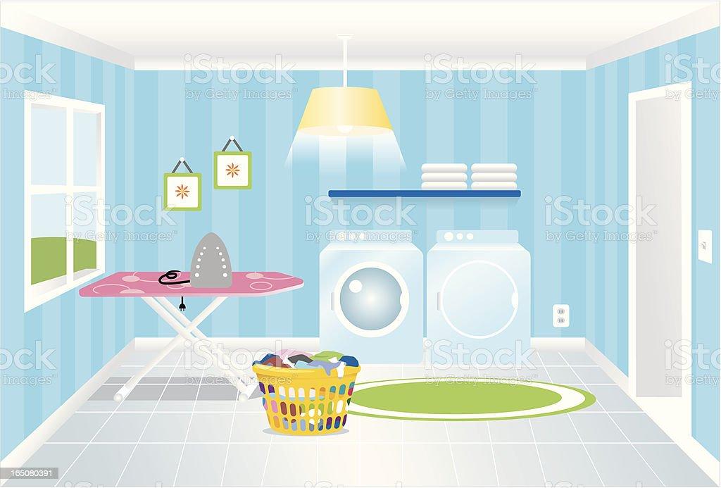 Laundry Room royalty-free stock vector art