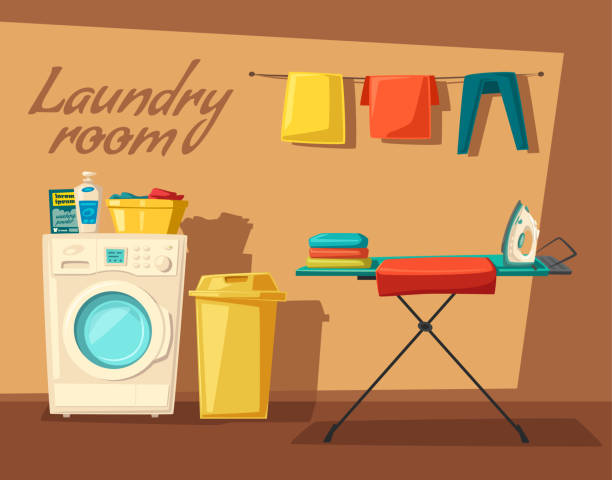 Laundry Room Illustrations, Royalty-Free Vector Graphics ...
