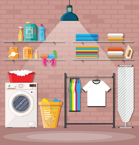 Royalty Free Laundry Basket Clip Art, Vector Images ...