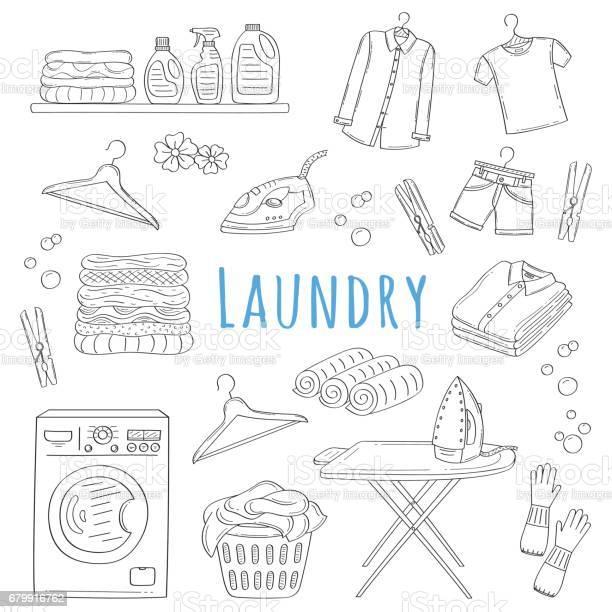 Laundry service hand drawn doodle icons set vector illustration vector id679916762?b=1&k=6&m=679916762&s=612x612&h=38xqwdeexvyt4baxt4eawxpcxnlgkunv5chbxdlzxua=