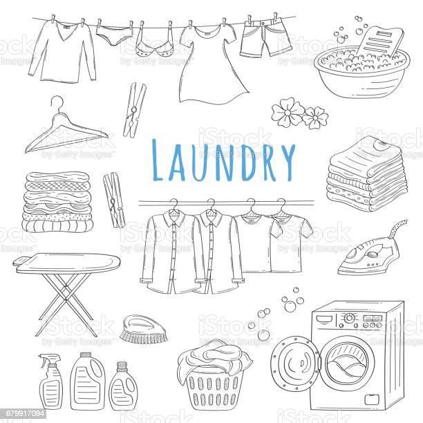Laundry service hand drawn doodle icons set vector illustration vector id679917094?b=1&k=6&m=679917094&s=612x612&h=weinuzjjidiwdf5ibbouaefexa5c1fdfsug5eacpkss=