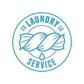 Laundry service vector template label, sign