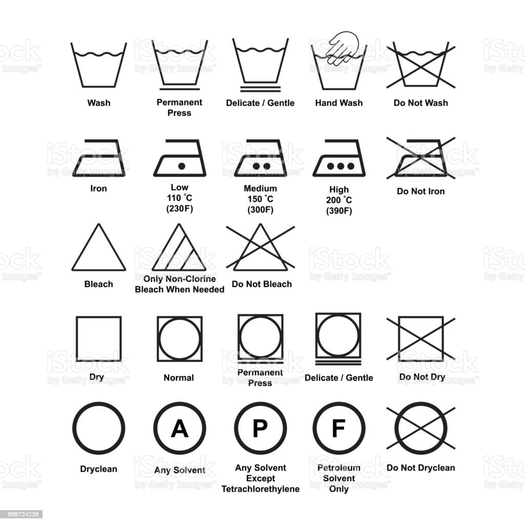 Laundry Symbol Isolated Vector Stock Vector Art More Images Of