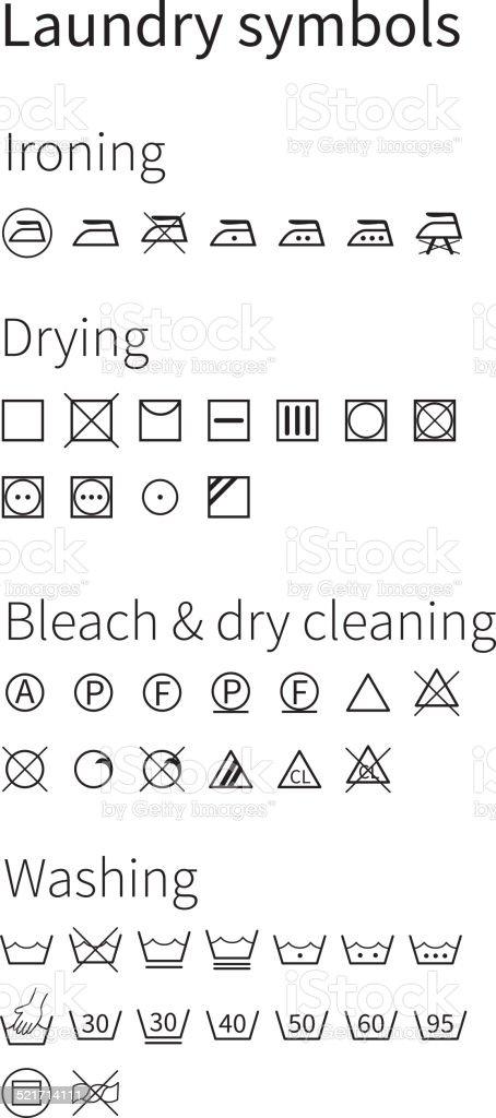 Laundry Symbols Isolated Icons Stock Vector Art 521714111 Istock