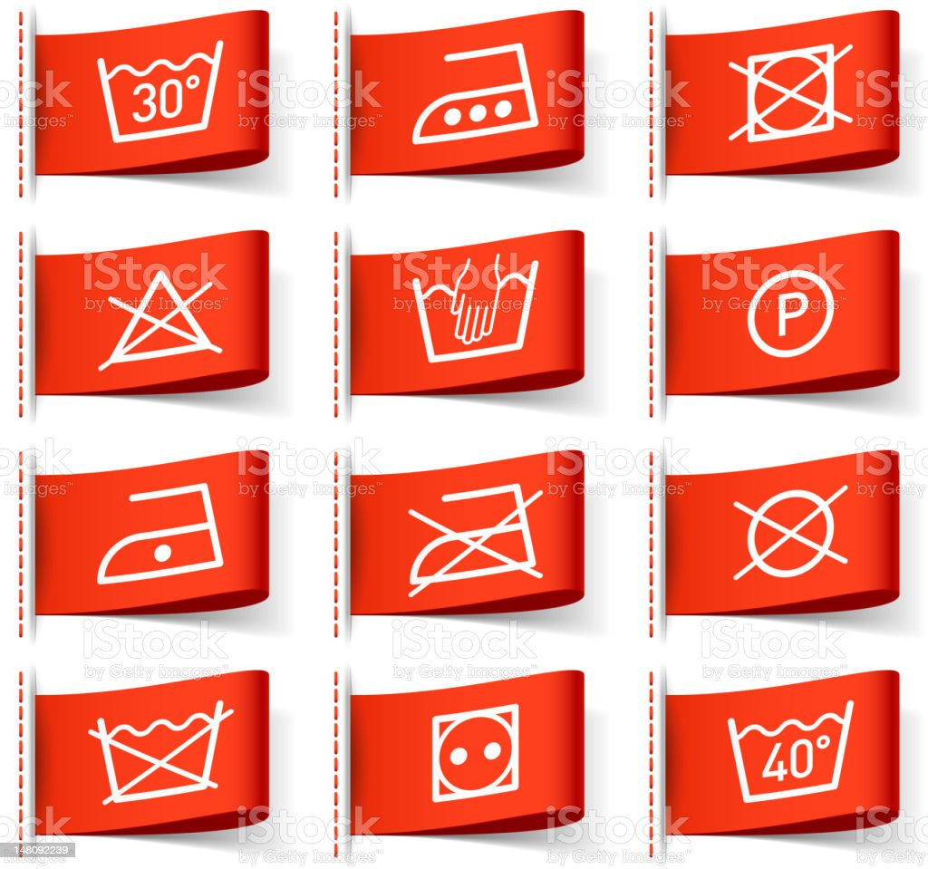 Laundry symbols on clothing labels stock vector art 148092239 istock laundry symbols on clothing labels royalty free stock vector art biocorpaavc
