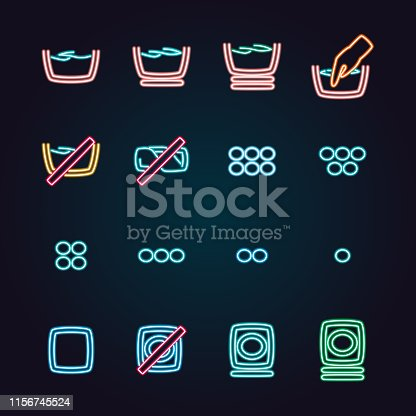 The vector files of laundry icon set.