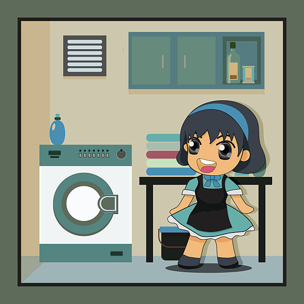 Laundry Room Clip Art, Vector Images & Illustrations - iStock