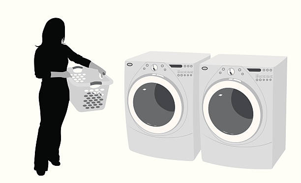 Laundry Vector Silhouette file_thumbview_approve.php?size=1&id=14192712 laundry basket stock illustrations