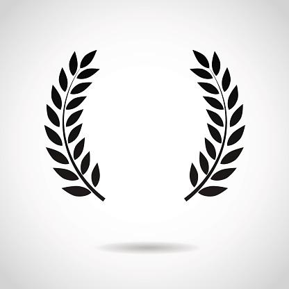 Laurel icon isolated on white background.