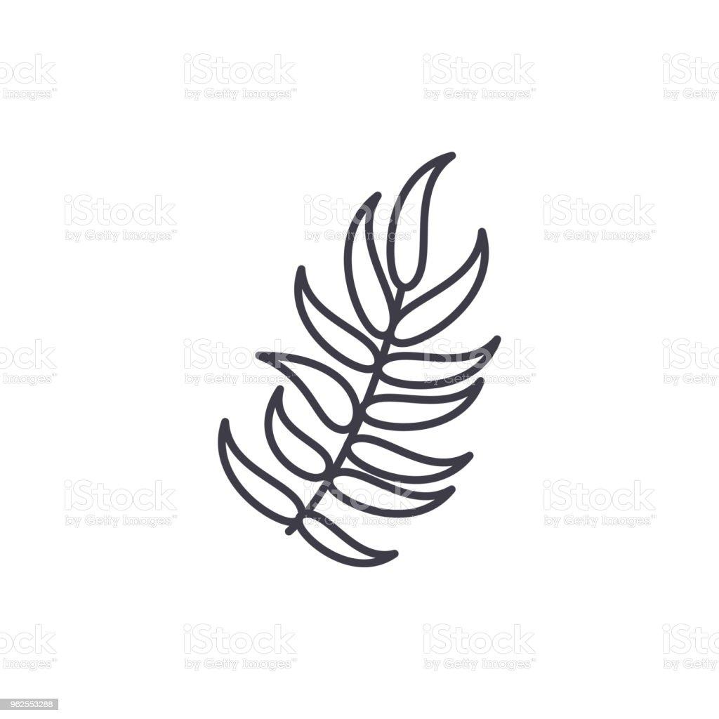 Laurel line icon concept. Laurel flat vector sign, symbol, illustration. - Royalty-free Anniversary stock vector