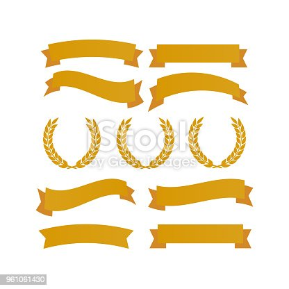 Laurel wheat awards heraldry antiquity. Winner triumph and success vector laurel