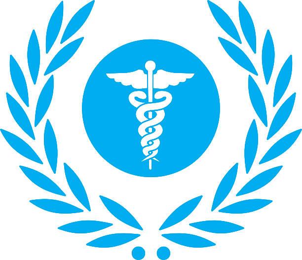 laurel 、ヘルスケアヘルメスの杖シンボル - ヘルメスの杖点のイラスト素材/クリップアート素材/マンガ素材/アイコン素材