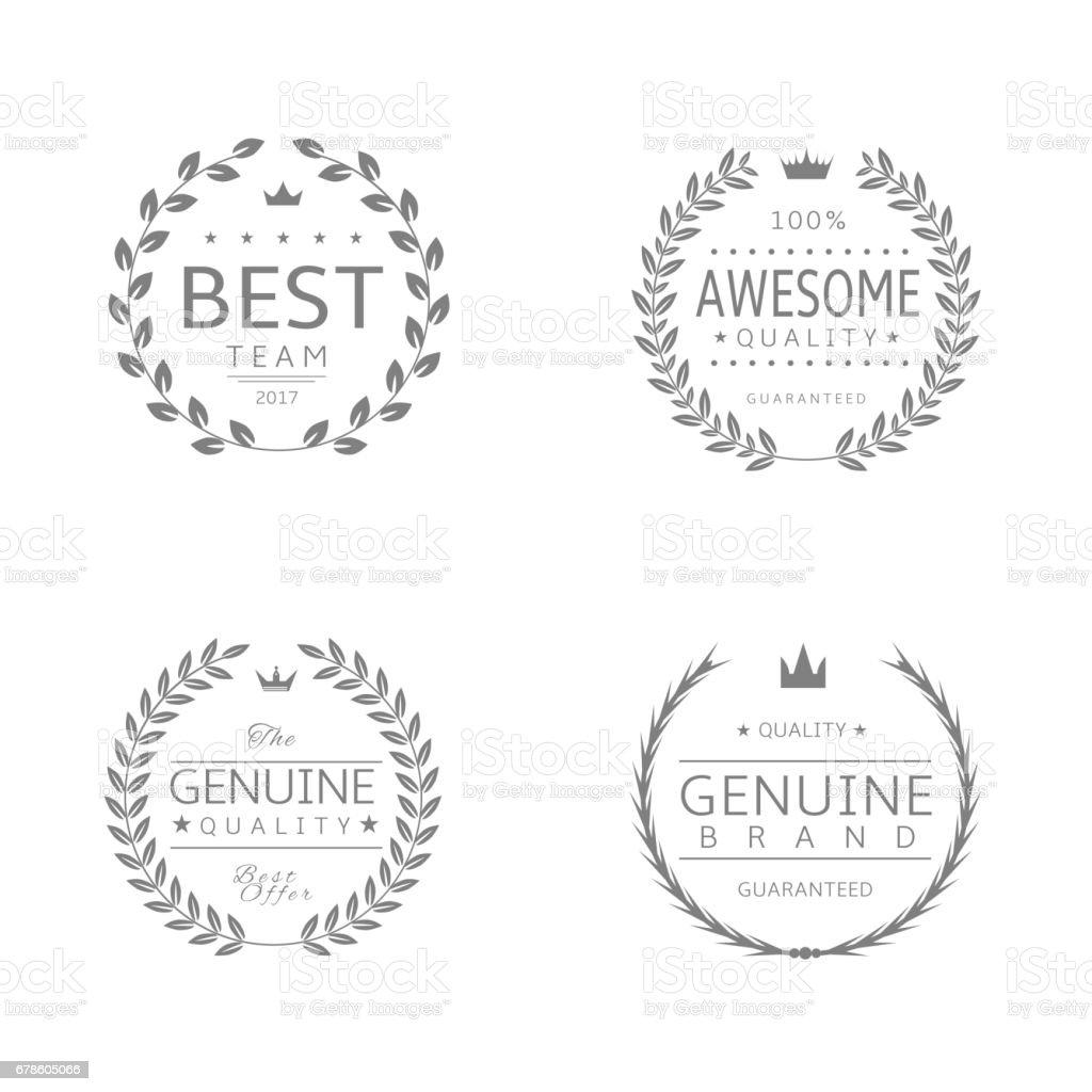 Laurel wreath award set3