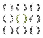 istock laurel wreath design element set 1203095460