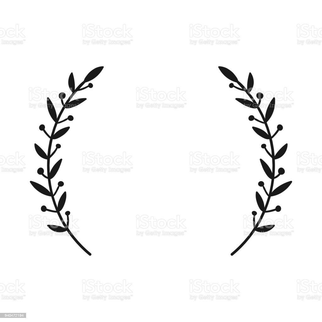 Laurel wreath hand drawn vector round frame for invitations greeting hand drawn vector round frame for invitations greeting cards quotes m4hsunfo