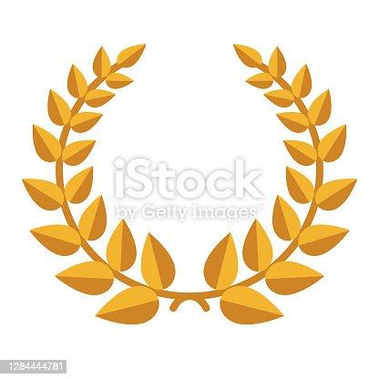 istock Laurel Wreath Icon on Transparent Background 1284444781