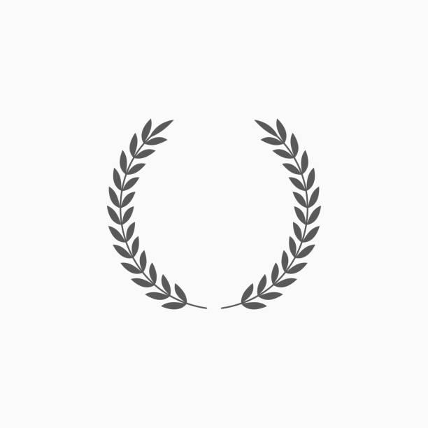 stockillustraties, clipart, cartoons en iconen met laurier krans pictogram - prijs onderscheiding